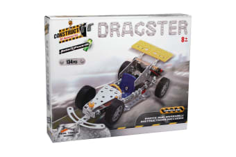 Construct-It! Battery Powered Dragster 134 Piece Kit