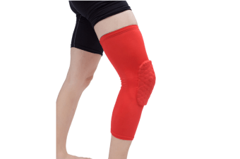 Knee Pad,Leg Sleeve Knee Brace Knee Support,Honeycomb Crashproof Red L