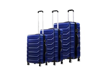 3PCS Travel Luggage Carry On Expandable Suitcase Trolley Lightweight Luggages
