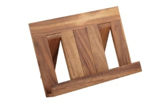 Acacia Wood Recipe Book Holder Vertical