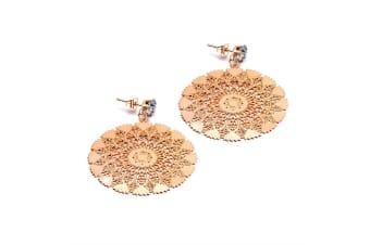 Flake Dangle Earrings|Rose Gold/Clear