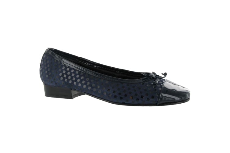 Riva Andros Suede Ballerina / Womens Shoes (Navy) (39 EUR)