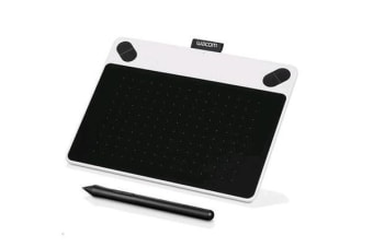 """Wacom Intuos CTL-490, Draw Small White Pen only 3.7"""" x 6"""" with Draw bundled software"""