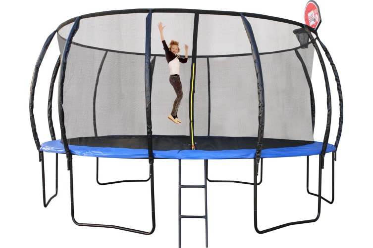 16ft Trampoline With Basketball Hoop