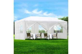 3x6m Outdoor Gazebos Party Wedding Marquee Tent Camping White
