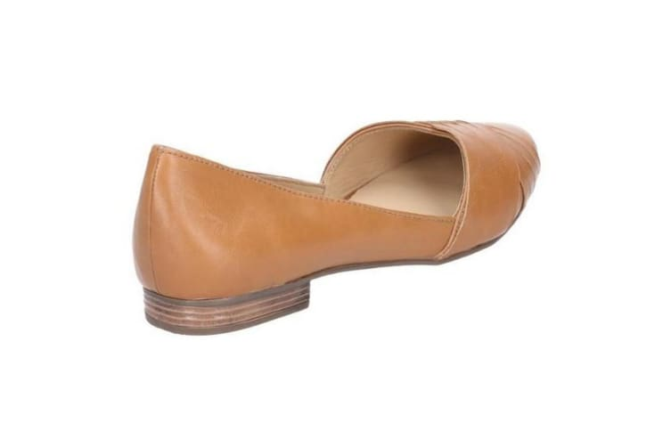 Hush Puppies Womens/Ladies Marley Ballerina Leather Slip On Shoes (Tan) (6 UK)