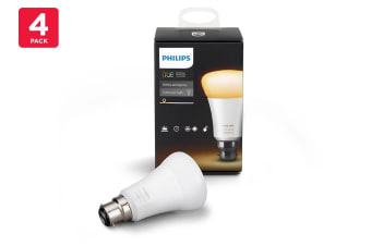 Philips Hue White Ambient 9.5W A60 B22 Smart Bulb (4 Pack)