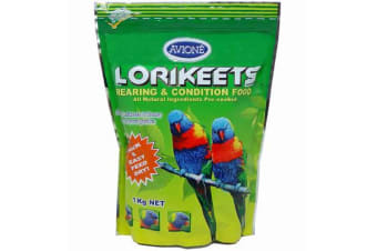 Avione Lorikeets Rearing Condition Food 1kg - 1kg
