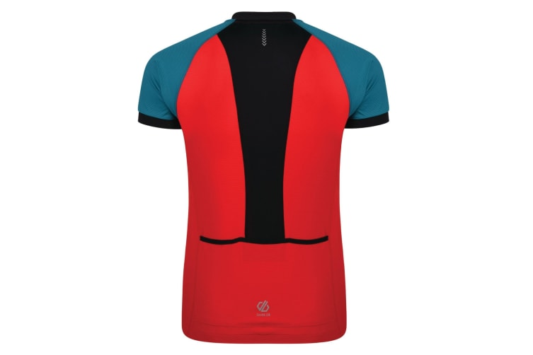 Dare 2B Mens Accurate Cycle Jersey (Fiery Red.Ocean Depths) (L)