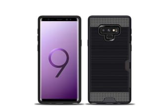 For Samsung Galaxy Note 9 Case Strong 1 Card Slot Hidden Back Phone Cover Black