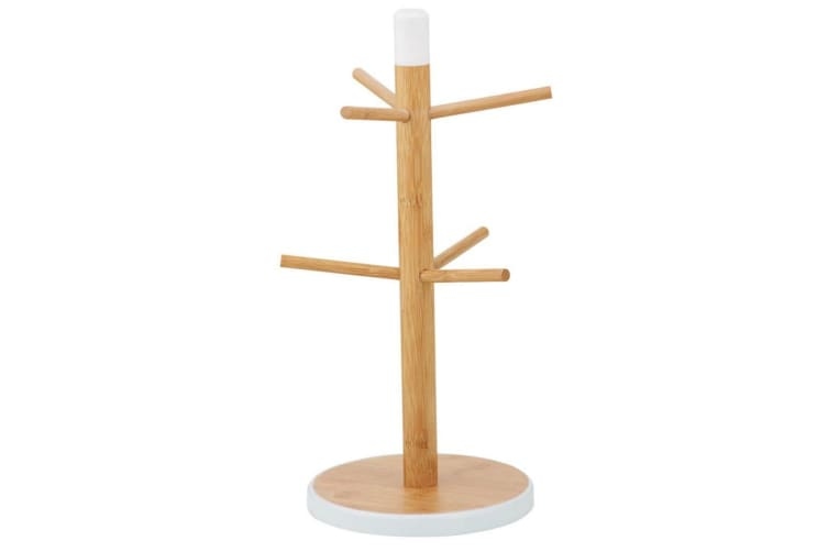 Davis & Waddell Bamboo Mug Tree Kitchen Storage Organiser Rack Stand Holder