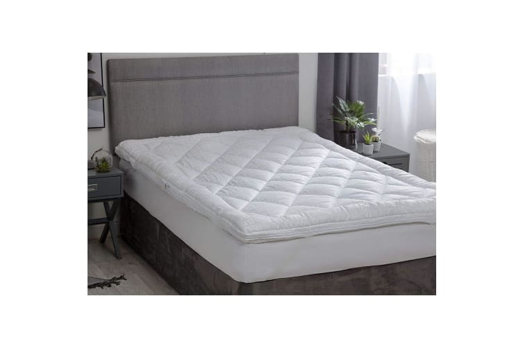 Belledorm Hotel Suite Dual Layer Mattress Topper (White) (Double)
