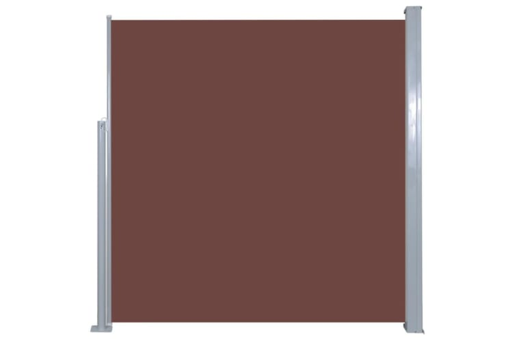 vidaXL Retractable Side Awning 140 x 300 cm Brown