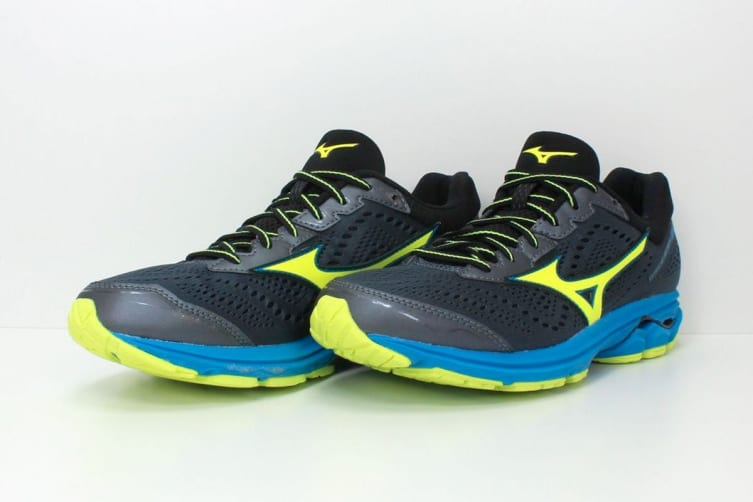 Mizuno Men's WAVE RIDER 22 Running Shoe (Ombre Blue/Safety Yellow, Size 10 US)