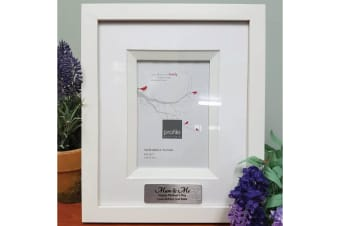 Mum Personalised Photo Frame 4x6 White/Black Wood