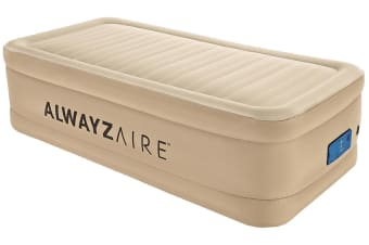 Bestway Fortech AlwayzAire Air Bed Twin Inflatable Mattress Sleeping Mats Indoor Home Camping