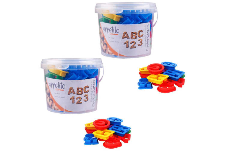 72pc Appetito Alphabet Numbers Letters Cookie Mould Cutters Baking Tool Mold Set