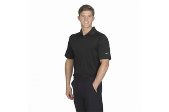 Nike Golf Mens Victory Sports Polo Shirt / Golfwear (Black) (S)