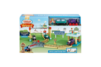 Thomas and Friends Wooden Railway Lift and Load Cargo Set