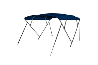 Kaiser Boating 4 Bow 1.5-1.7m Bimini Top Boat Canopy - 200cm length - Navy Blue - Complete kit includes Aluminium Frame + 600D Oxford Polyester Cover + Rear Poles + Sock