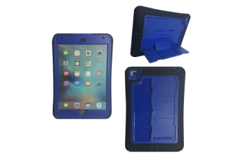 Griffin Survivor Slim Case for iPad Mini 4 Drop Proof Screen Protector Stand Blu