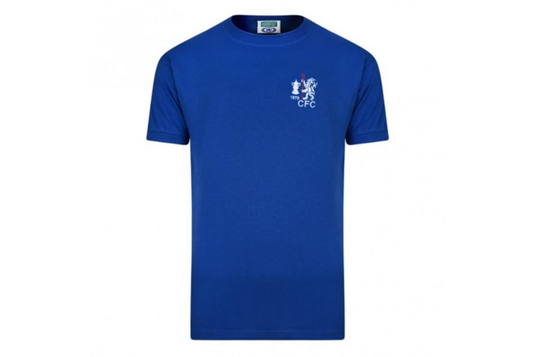Chelsea FC Mens Official 1970 FA Cup Winners Retro Shirt (Blue) (Medium)