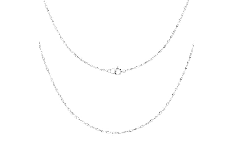 .925 Made In Italy Classic Figaro Link Chain Necklace III-Silver