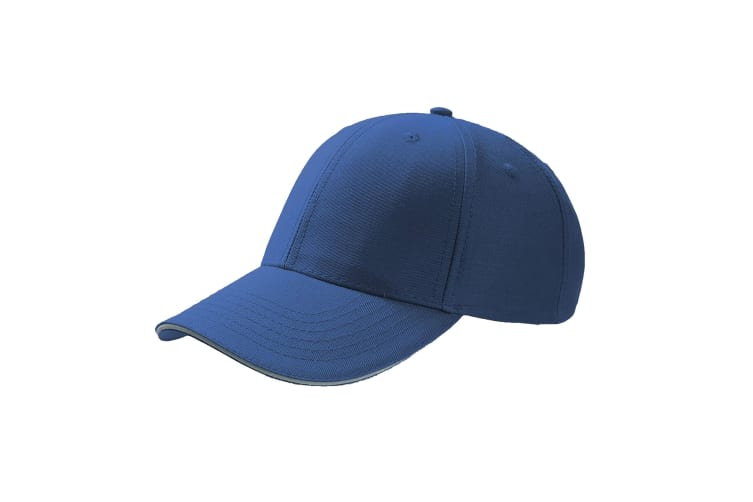 Atlantis Sport Sandwich 6 Panel Baseball Cap (Pack of 2) (Royal) (One Size)