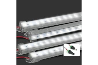 4X 12V Linkable Rigid Light Bar LED Strip Camping Waterproof Connector Combo Kit  -  Design C