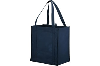 Bullet The Non Woven Little Juno Grocery Tote (Pack of 2) (Navy) (30.4 x 20.3 x 33cm)