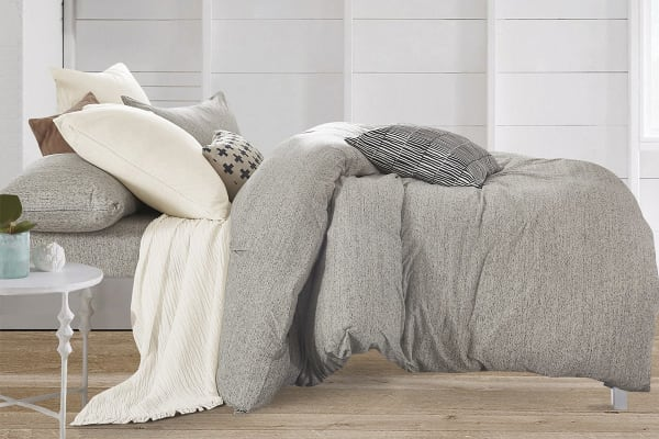 Gioia Casa Jersey Cotton Quilt Cover (Double/Grey Marble)