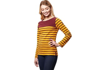 Regatta Womens/Ladies Faizah Long Sleeved T-Shirt (Mustard Seed/Burgundy) (10 UK)