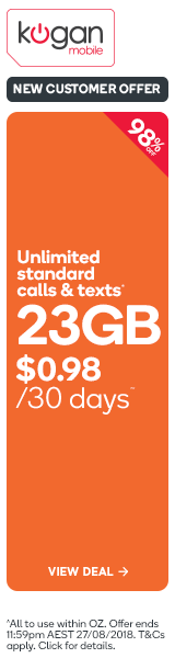 98% OFF Kogan Mobile Prepaid Voucher Code: SMALL (30 Days | 3GB) - New Customers Only