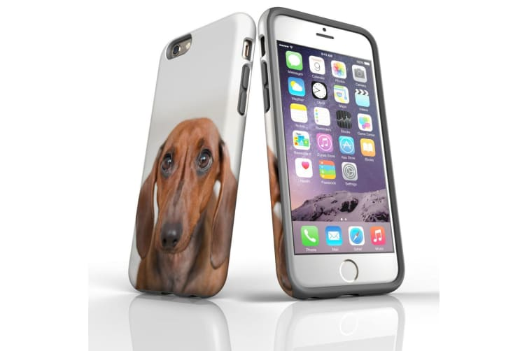 For iPhone 6S Case  Protective Back Cover  Red Dachshund