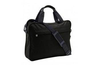 SOLS Corporate Plain Shoulder Strap Briefcase Bag (Black)