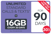 Kogan Mobile Prepaid Voucher Code: LARGE (90 Days | 16GB Per 30 Days)
