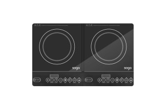 SOGA Cooktop Portable Induction LED Electric Double Duo Hot Plate Burners Cooktop Stove
