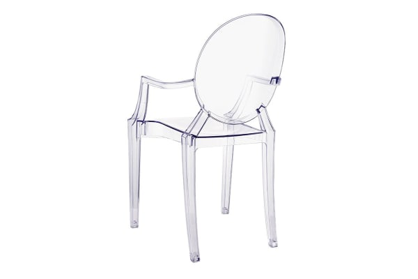 Ovela Set of 2 Replica Phillippe Starck Ghost Dining Chairs (Clear)