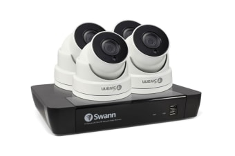 Swann 8 Channel 5MP Super HD 2TB NVR with 4 x 5MP Dome Cameras (SWNVK-874504D) - Pre-owned