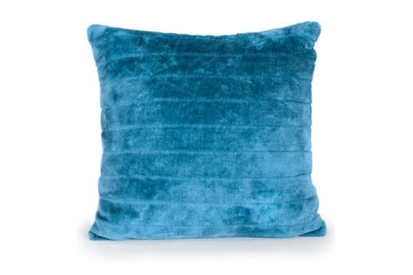 Jason Faux Fur Cushion (Teal)