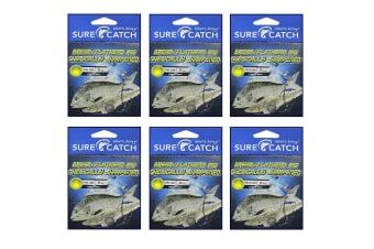 6 x Surecatch Pre-Tied Bream/Flathead Fishing Rig with Chemically Sharpened Hooks[Hook Size: 2]