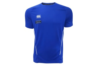 Canterbury Mens Team Dry Moisture Wicking Short Sleeve T-Shirt (Royal/White)