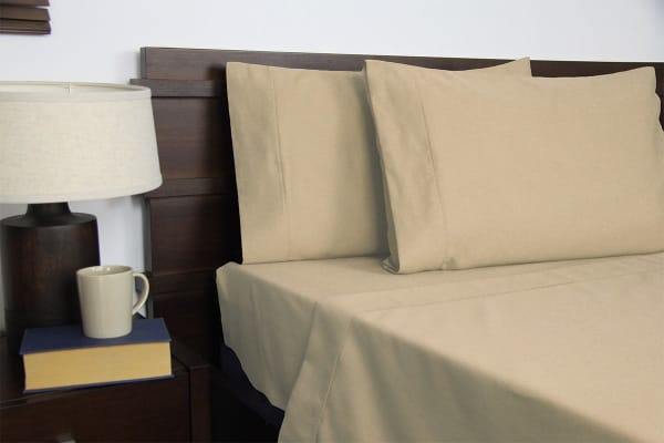 Apartmento Micro Flannel Sheet Set Taupe (King Single)