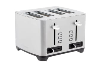 Westinghouse 4 Slice Side By Side Toaster - Stainless Steel