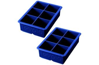2PK Tovolo King Jumbo Ice Cube Silicone Tray BPA Free Dishwasher Safe Blue