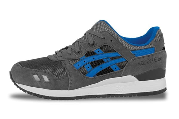 ASICS Tiger Men's Gel-Lyte III Running Shoe (Grey/Mid Blue, Size 12)