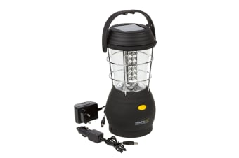 Regatta Great Outdoors Helia 36 Solar Camping Lantern (Black) (One Size)