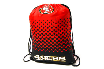 NFL San Francisco 49ERS Official Fade Gym Bag (Red/Black) (One Size)