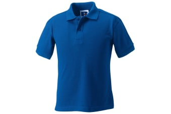 Jerzees Schoolgear Childrens Hardwearing Polo Shirt (Pack of 2) (Bright Royal) (9-10)