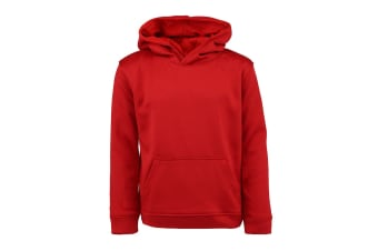 Champion Boys' Solid Performance Pullover Hoodie (Red, Size S)